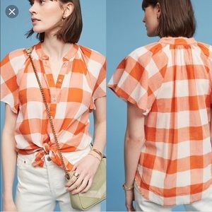 Anthropologie Picnic Plaid Shirt